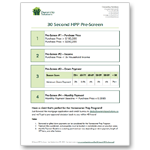 30 Second HPP Pre-Screen Cheat Sheet